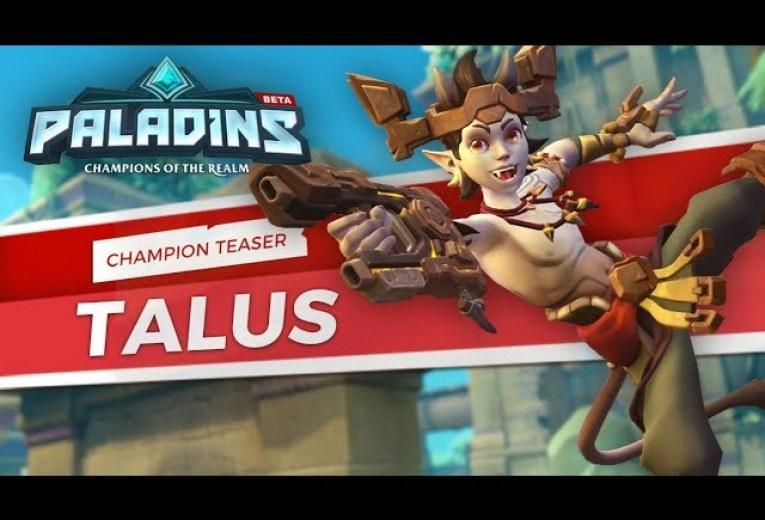 Teaser d'un nouveau champion Talus