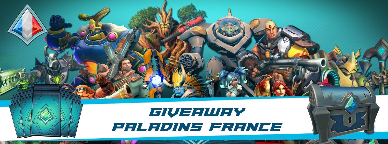 Bannière giveaway Paladins France